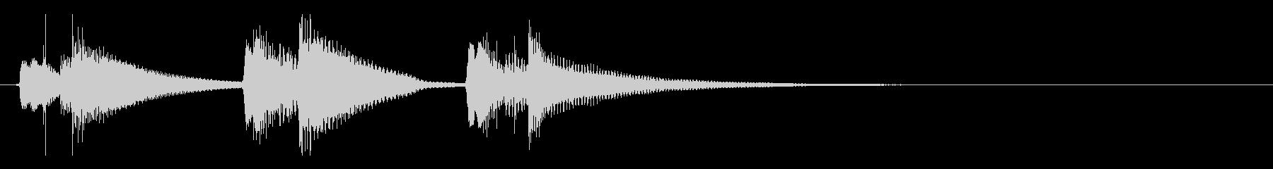 ウクレレのさりげなく短いジングルの未再生の波形