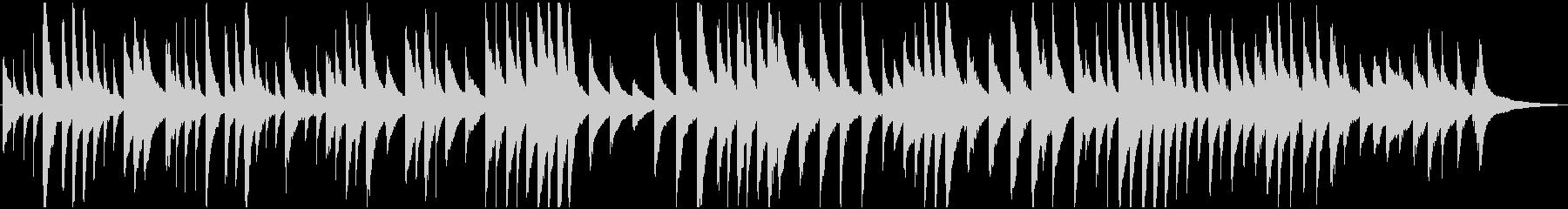 静かで落ち着いたリズムのピアノ曲の未再生の波形