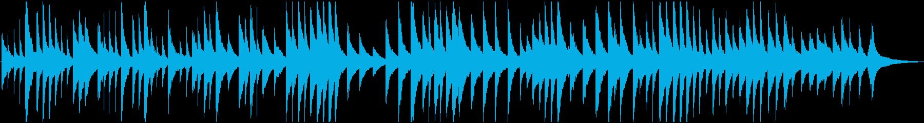 静かで落ち着いたリズムのピアノ曲の再生済みの波形