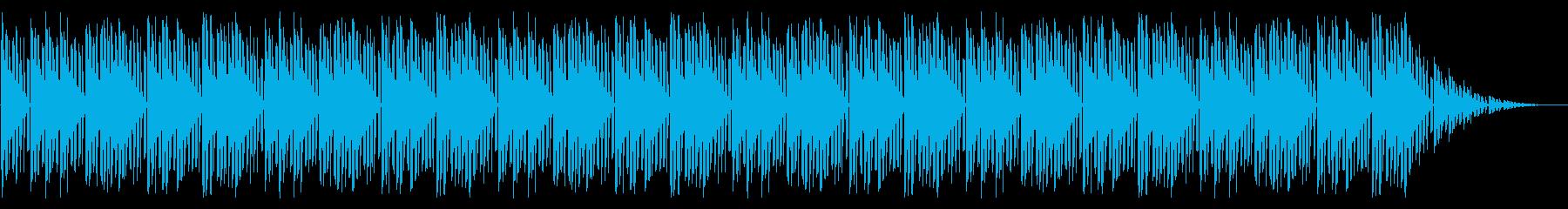 GB風アクションゲームのOP曲の再生済みの波形