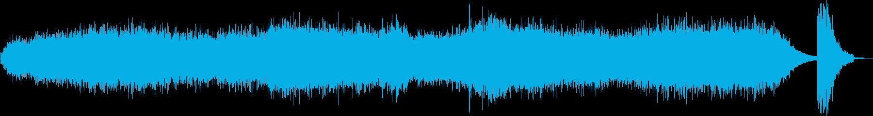ノイズが入ったホラーな曲の再生済みの波形
