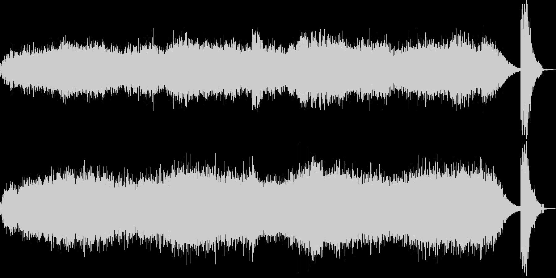 ノイズが入ったホラーな曲の未再生の波形