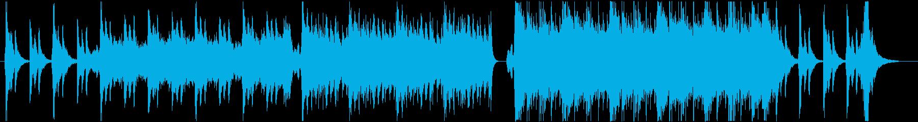 ファンタジー系の壮大なオーケストラBGMの再生済みの波形