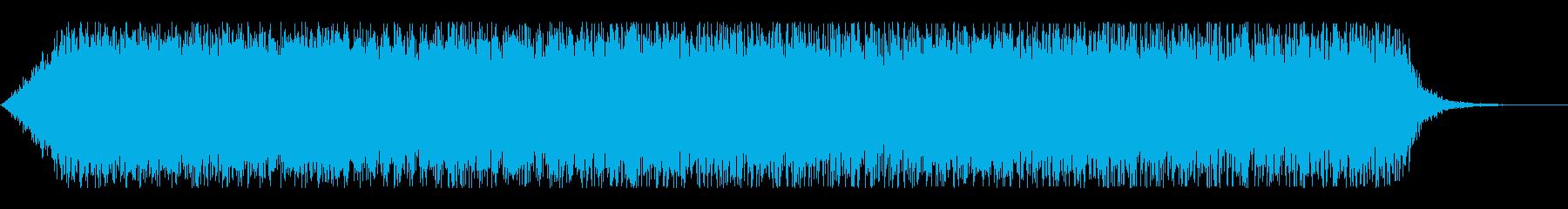 機体プロペラ音(ブイーン)の再生済みの波形