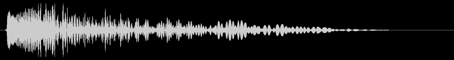 レーザー衝撃サージの未再生の波形