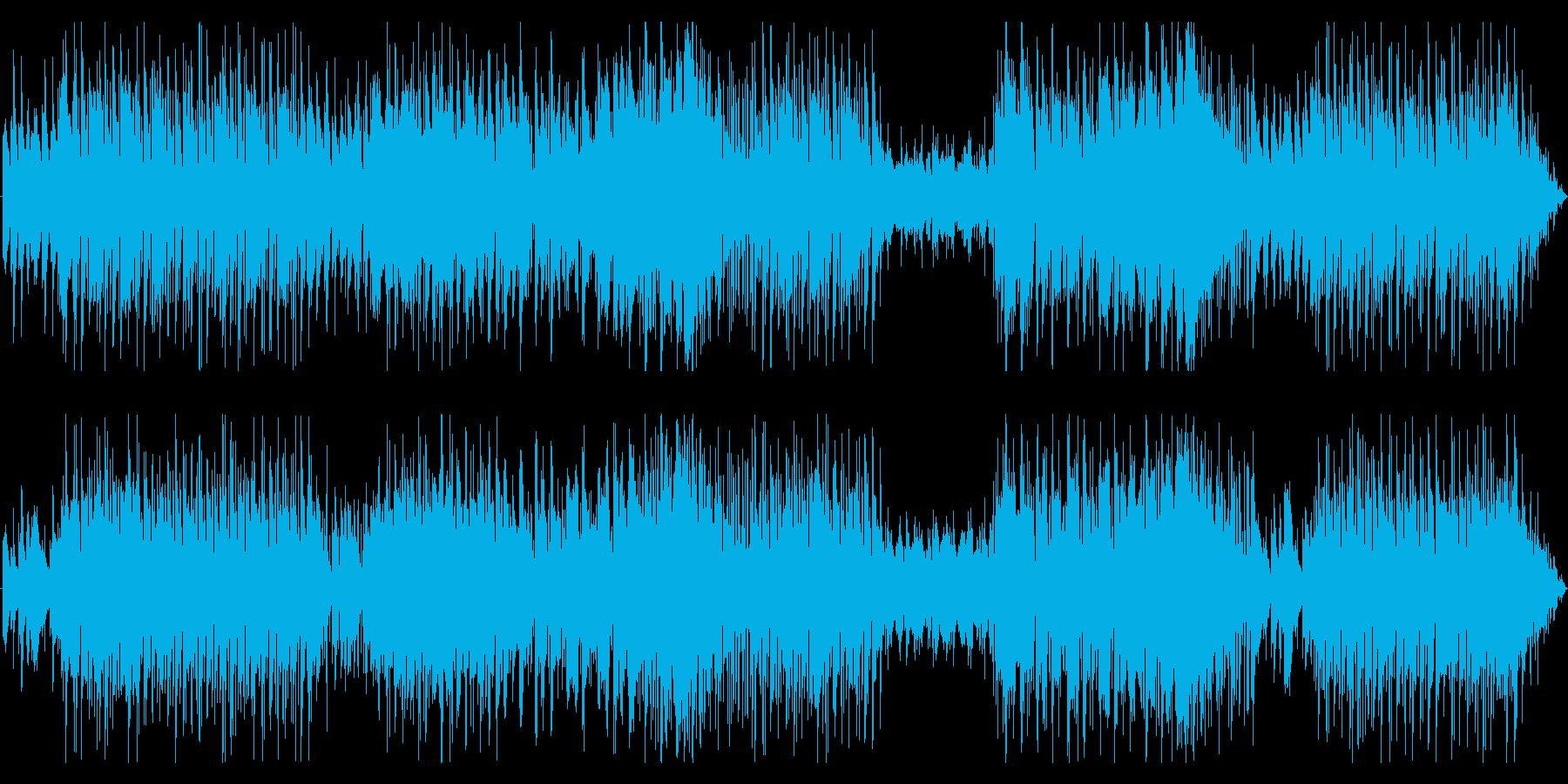 ファンタジー系_美しい町_ハープとピアノの再生済みの波形