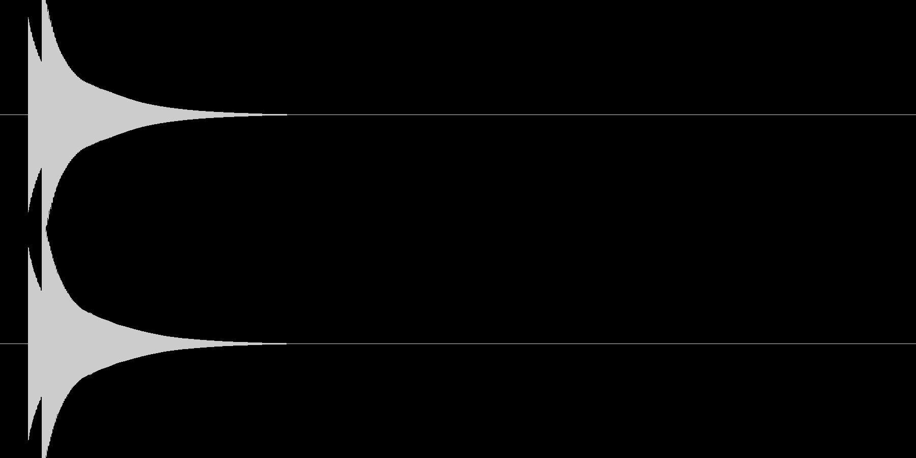 ピコーン(ファミコン ゲーム音)の未再生の波形