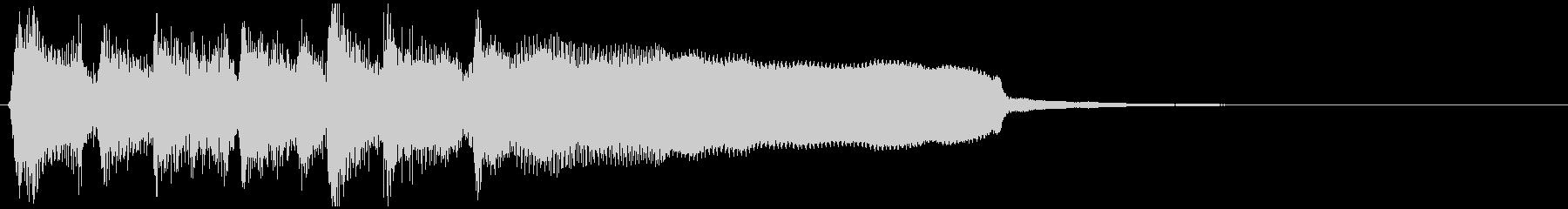 ステージクリア系ジングル、管楽器、ジャズの未再生の波形