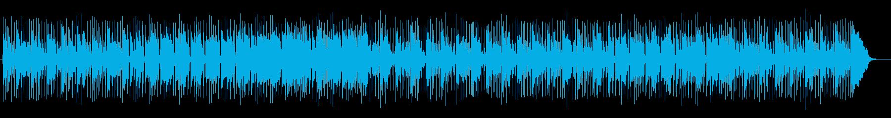 現代的な落ち着きのある大人の曲の再生済みの波形