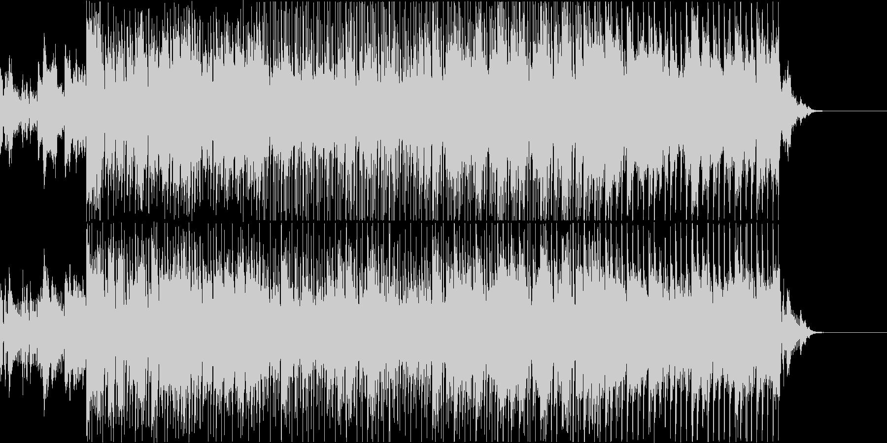 軽快なハウスのリズムに乗ったピアノ曲の未再生の波形