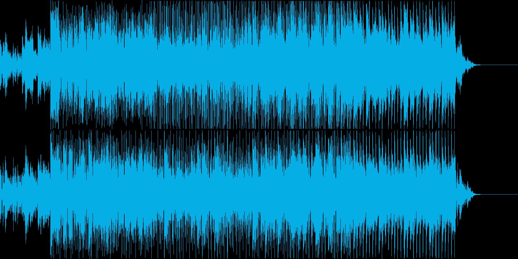 軽快なハウスのリズムに乗ったピアノ曲の再生済みの波形