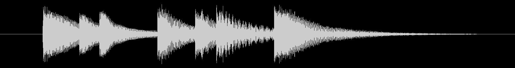 木琴でシンプルなサウンドロゴ・ジングルの未再生の波形