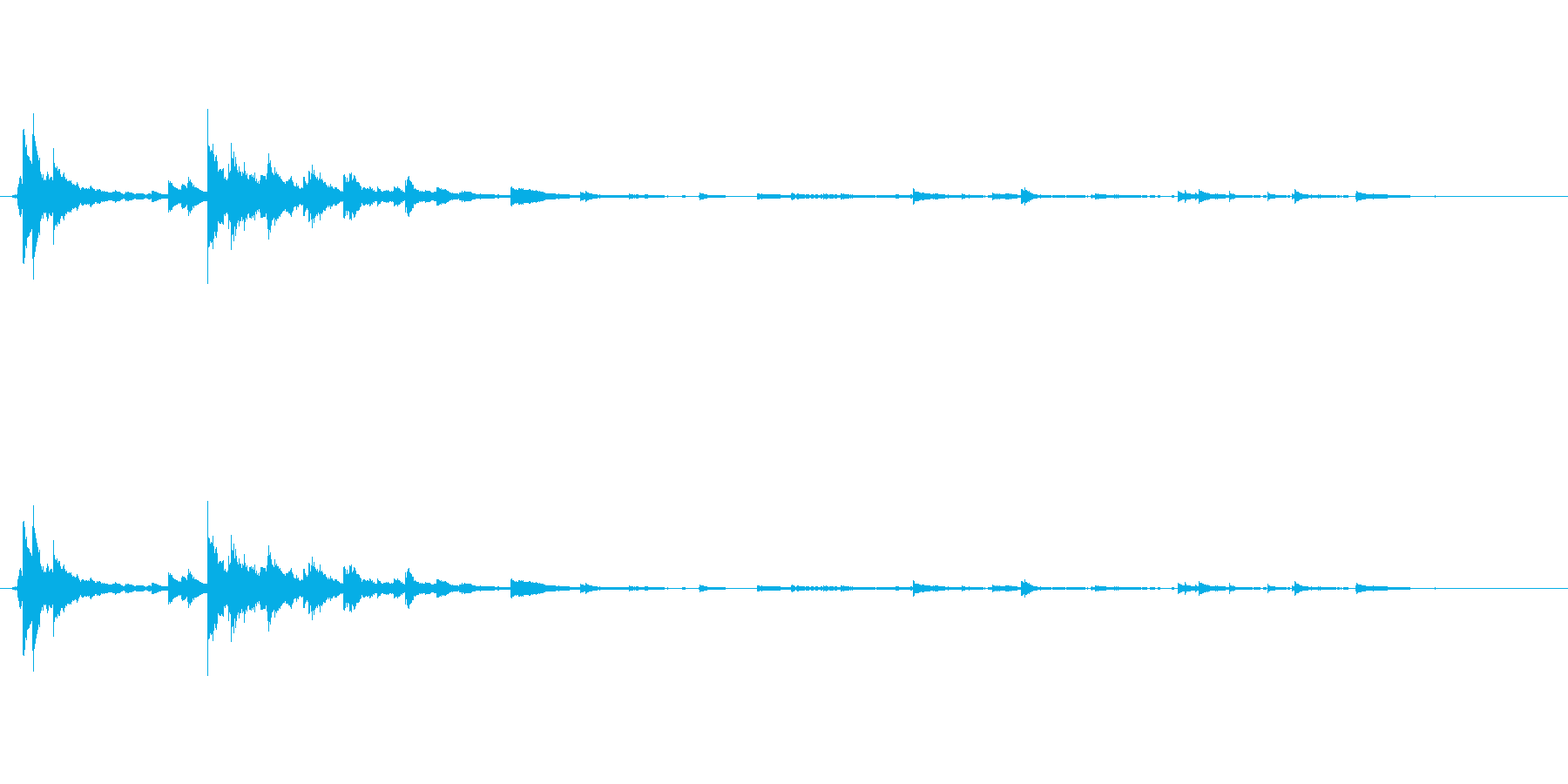 メタル 風鈴鳴る07の再生済みの波形