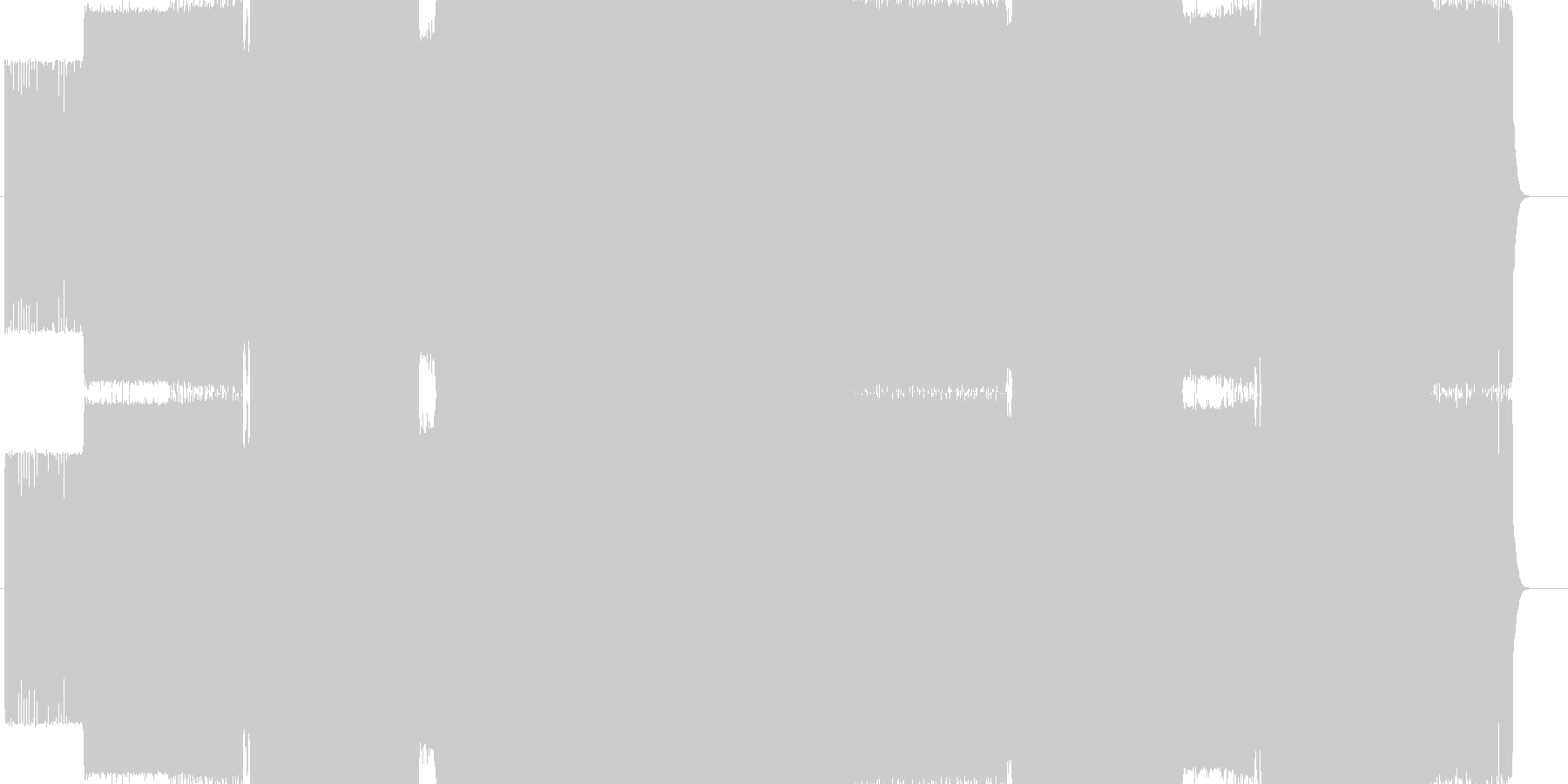 Sasayaki Okamiの未再生の波形