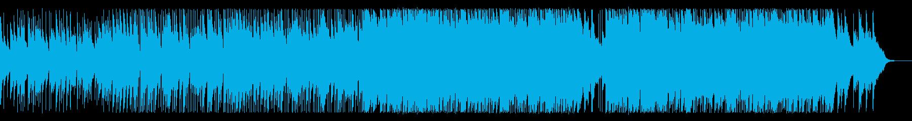 優しくて壮大なバラードインストの再生済みの波形