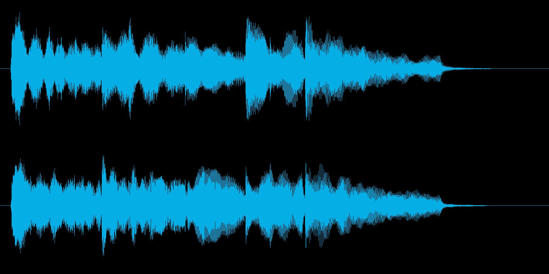 ゲームオーバーのジングル、グロッケン音の再生済みの波形