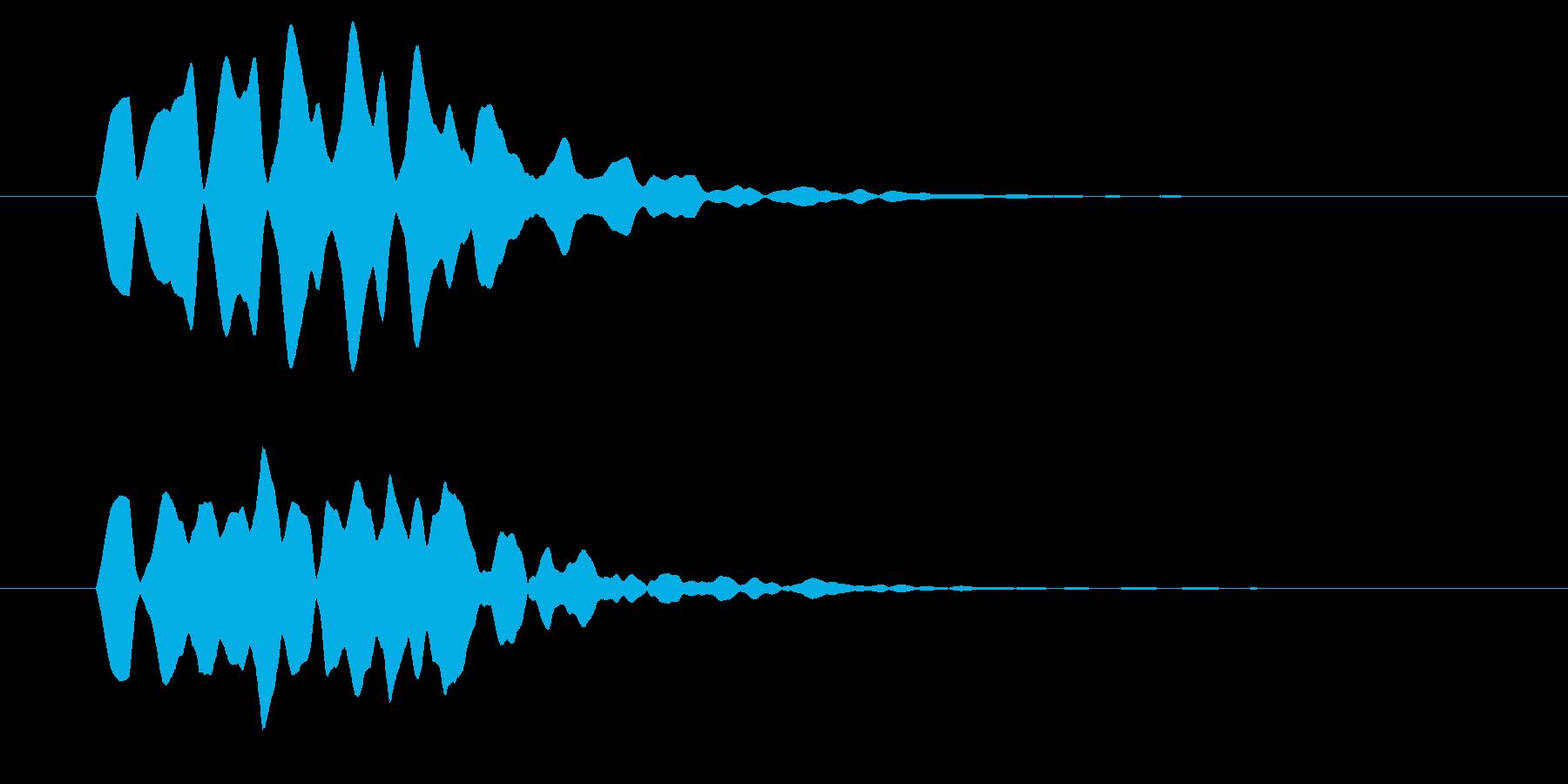 改札 ビープ音01-16(音色2 遠)の再生済みの波形