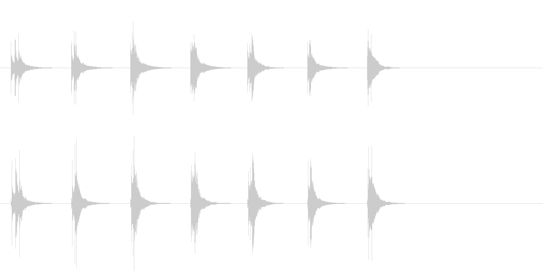 木琴の和音アイキャッチの未再生の波形