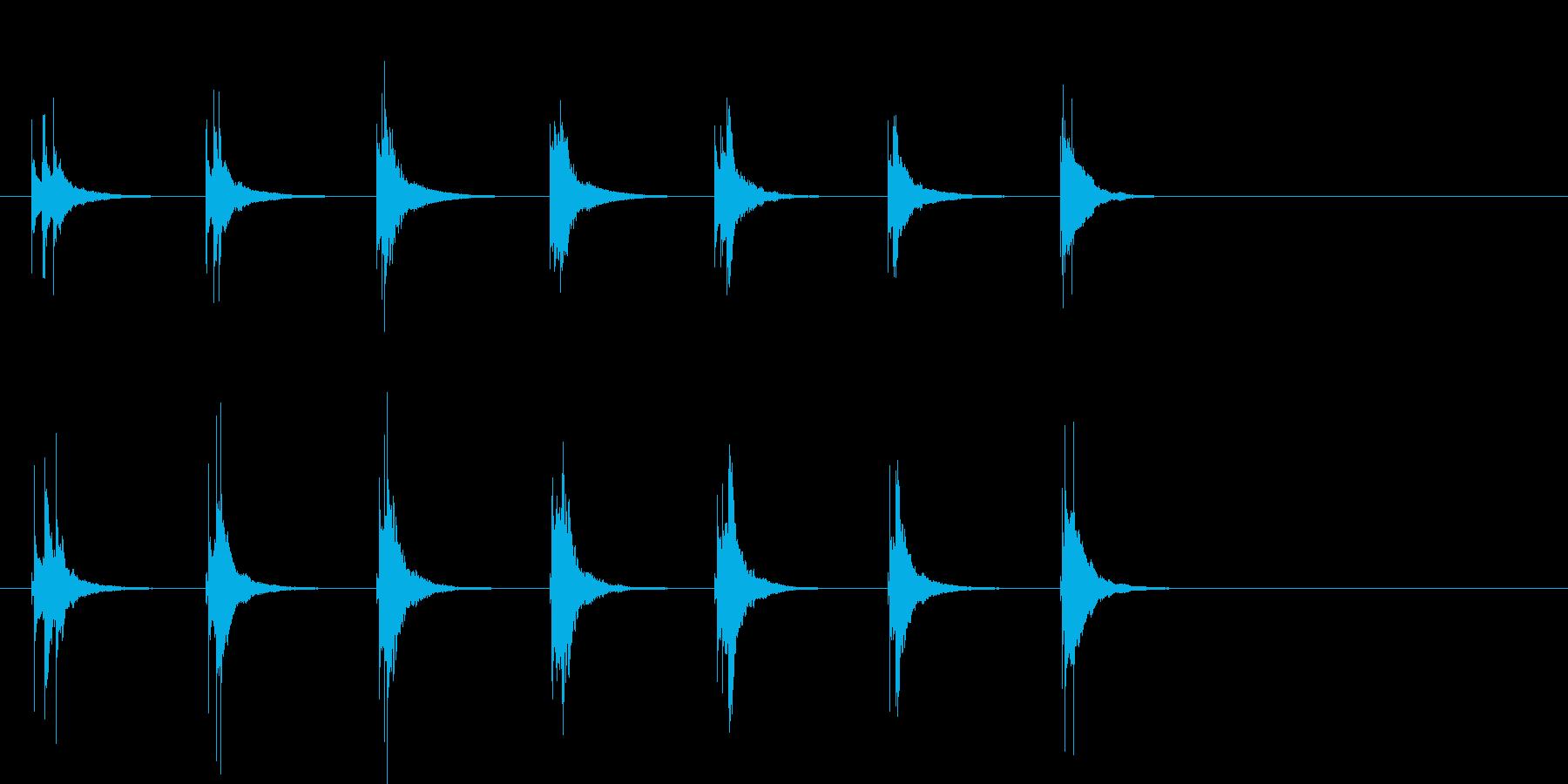 木琴の和音アイキャッチの再生済みの波形