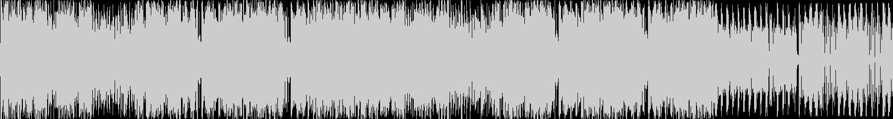 とにかく激しいエレクトロ曲 ループverの未再生の波形