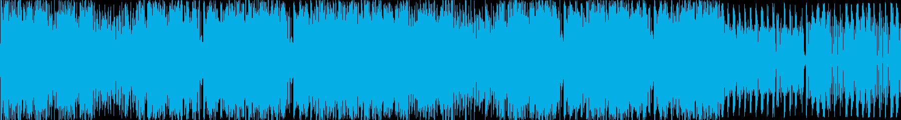 とにかく激しいエレクトロ曲 ループverの再生済みの波形