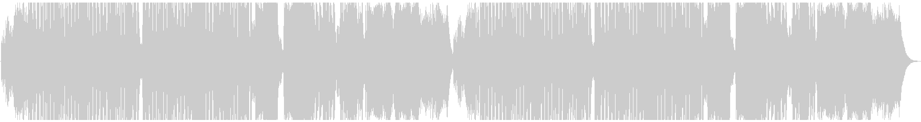 ハロウィン・コミカルなホラー曲の未再生の波形