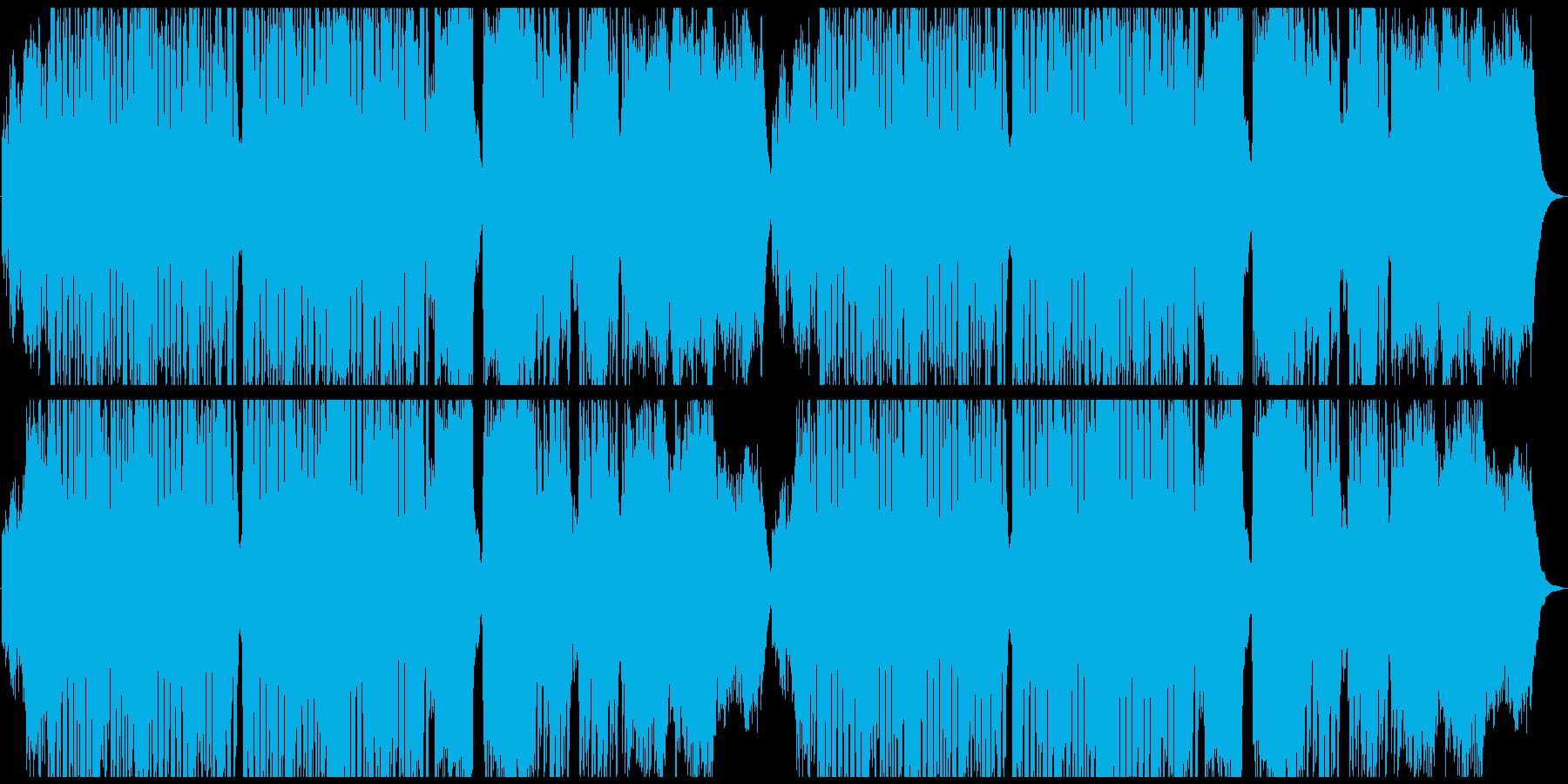 ハロウィン・コミカルなホラー曲の再生済みの波形
