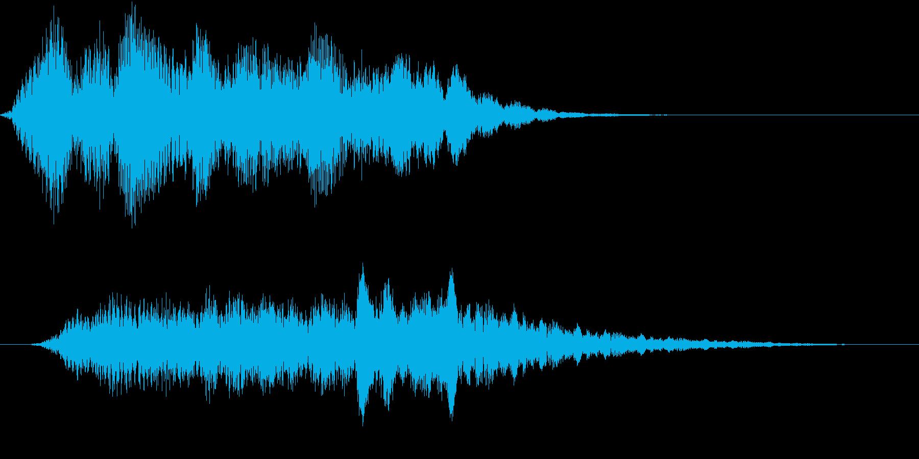 テクノロジー、未来系サウンドロゴの再生済みの波形
