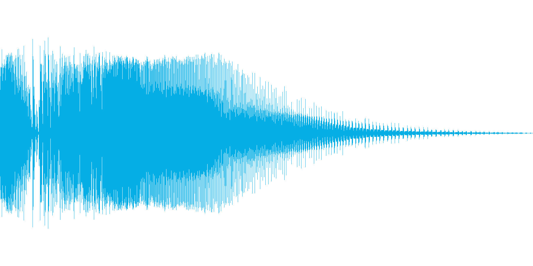 ズビシューン(ビームライフル風の射撃音)の再生済みの波形