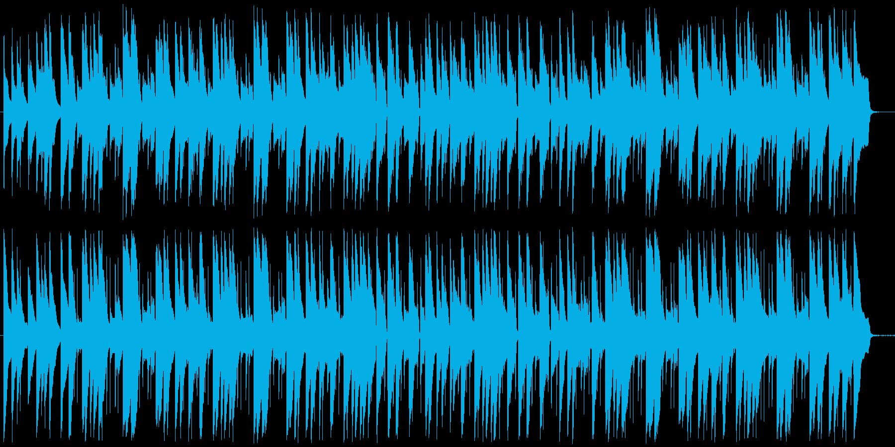 1分弱の可愛いほのぼの日常系BGMの再生済みの波形