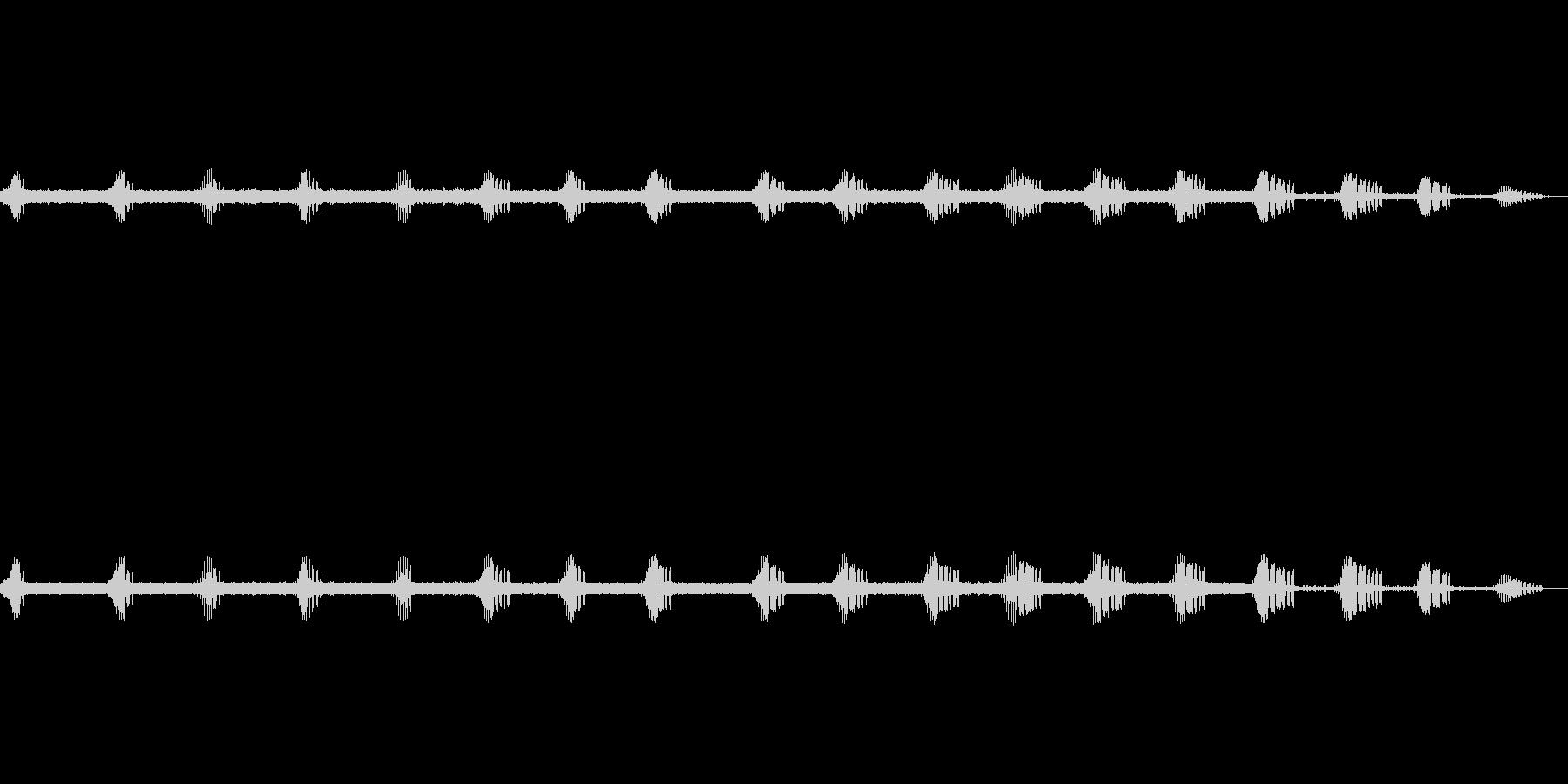 エンマコオロギの声1の未再生の波形