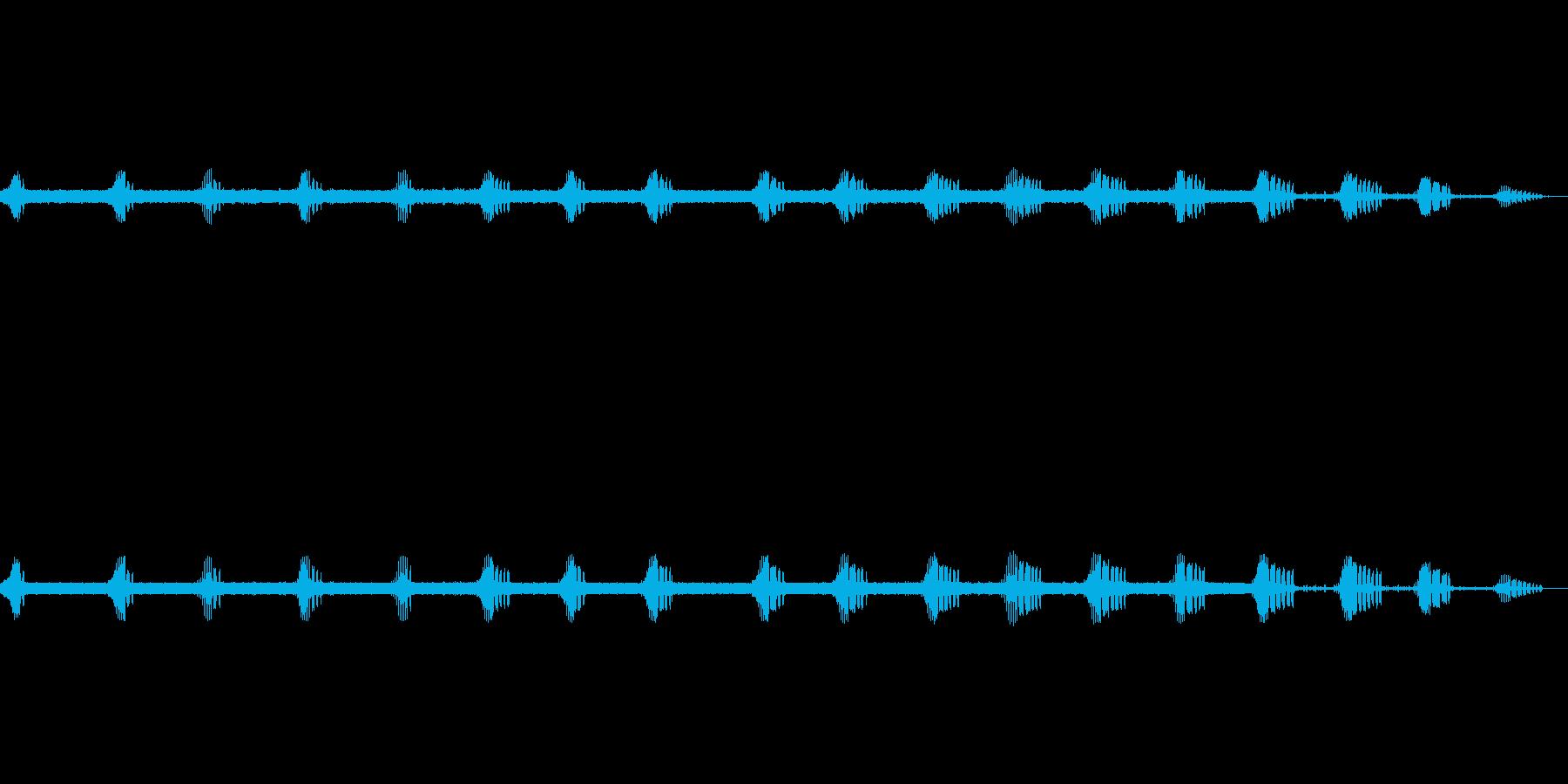 エンマコオロギの声1の再生済みの波形