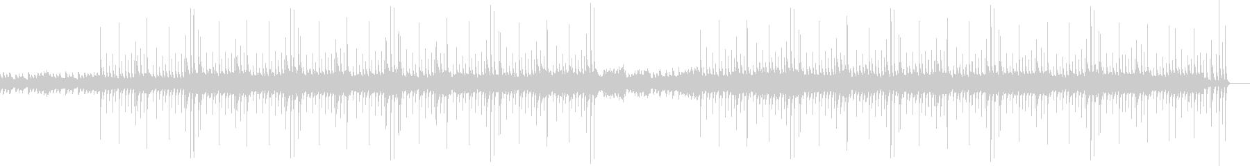 アコギのアルペジオが特徴のシンプルな曲の未再生の波形