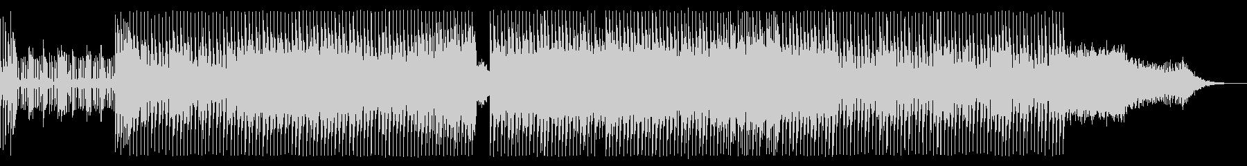 ノイジーでハードなエレクトロサウンドの未再生の波形