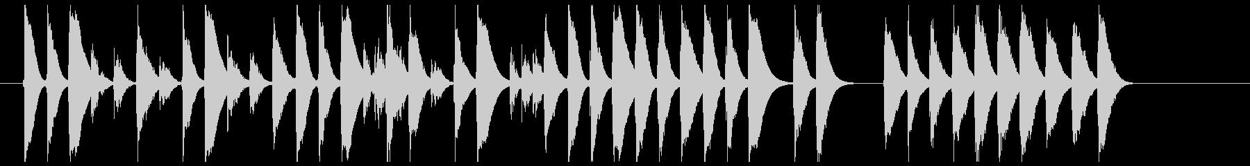 おもちゃのピアノで切ない曲の未再生の波形