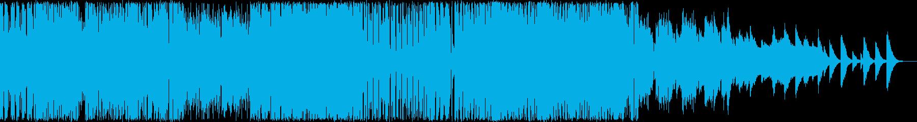 ハイテンションなピコピコシンセBGMの再生済みの波形