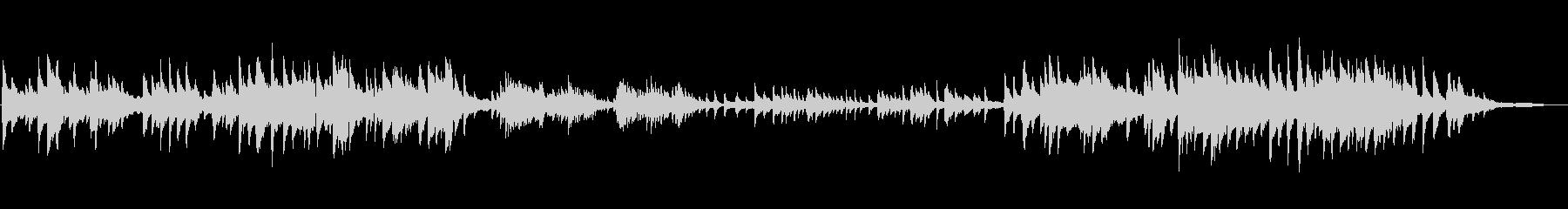 静かなピアノソロ曲ですの未再生の波形