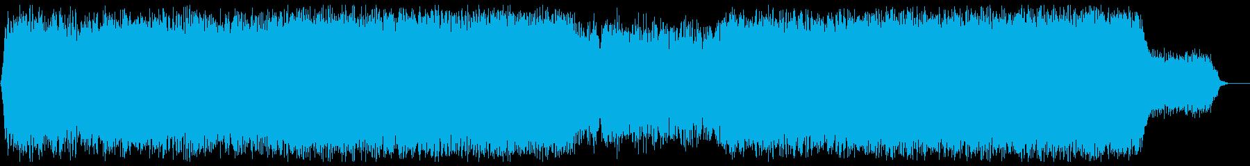 浮遊感があるゆっくりなメロディーの再生済みの波形
