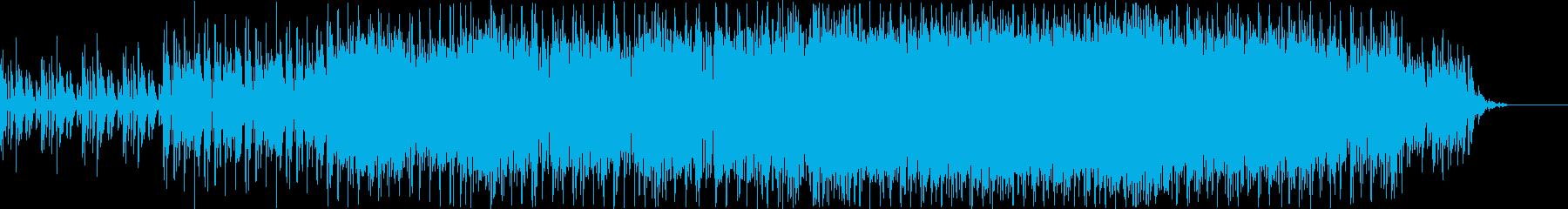縦ノリのダンスロックの再生済みの波形