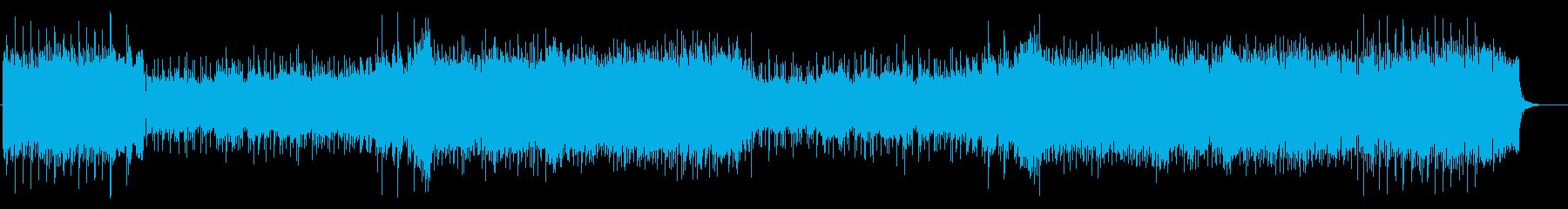 タイトル・バック向けテーマ・ミュージックの再生済みの波形