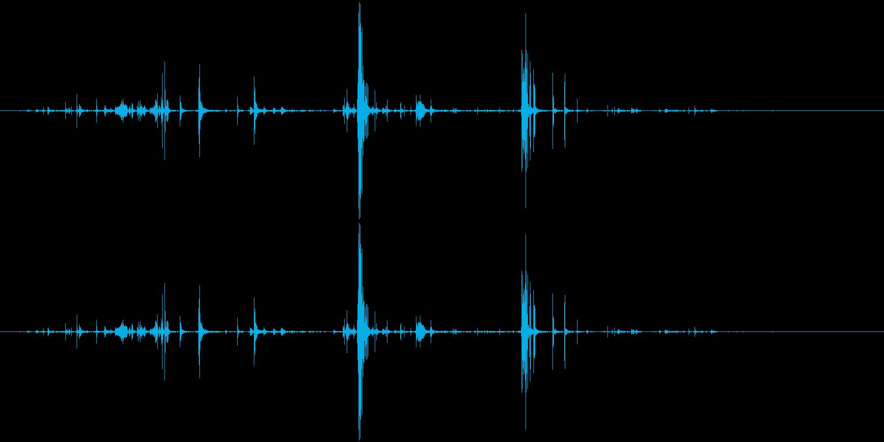 ループ・ネバネバしたものがうごめく音5の再生済みの波形