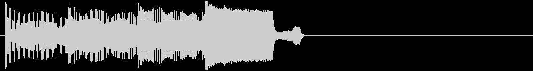 ピコピコ(ちょっとした電子音の効果音)の未再生の波形