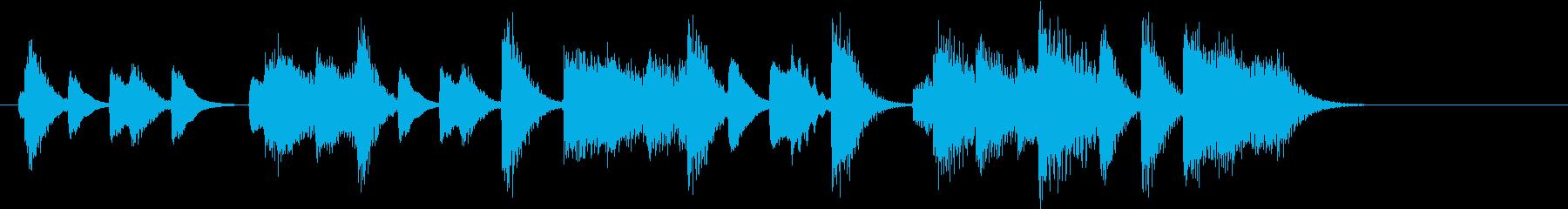 童謡・うれしいひなまつりピアノジングルBの再生済みの波形