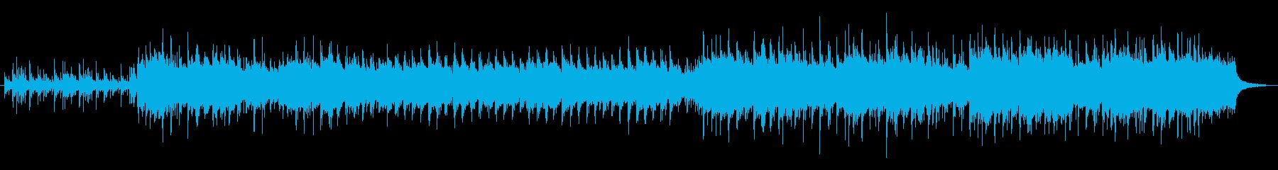 和風でテンポが速い戦いのイメージの曲の再生済みの波形