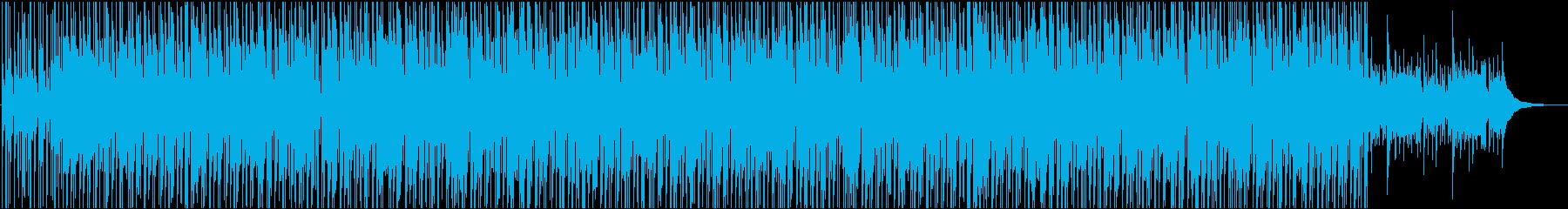 明るい  ポジティブ 楽しい 音楽の再生済みの波形