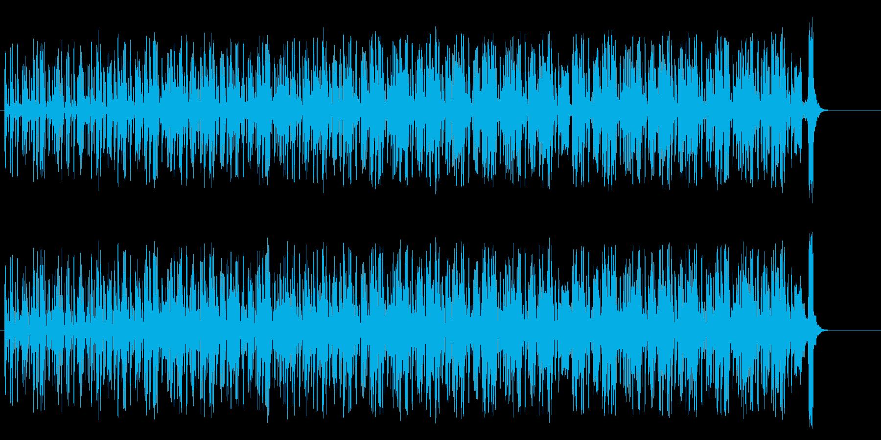 ビートの効いたテクノ/ポップの再生済みの波形