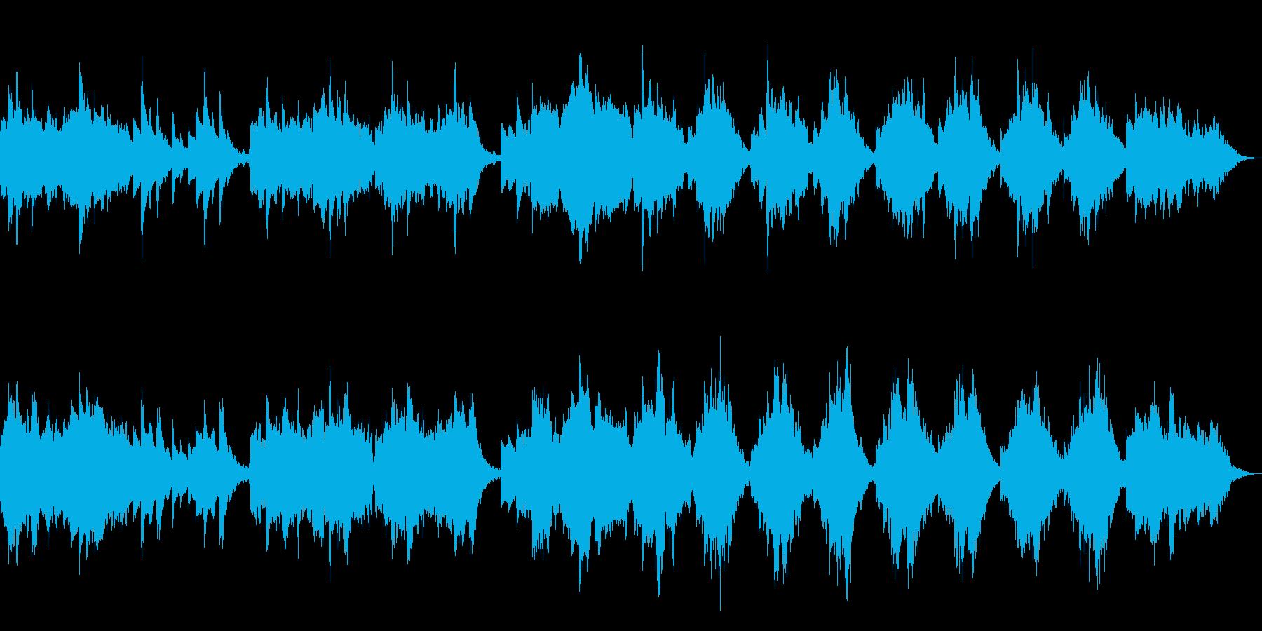時がゆっくり流れるような尺八曲の再生済みの波形