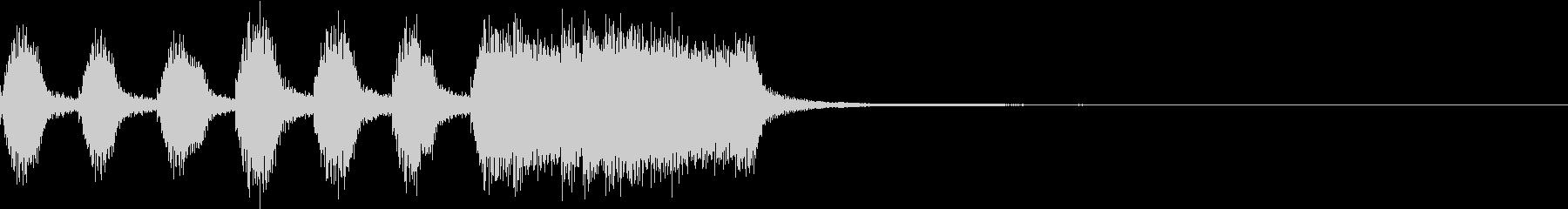 シンプル ファンファーレ 成功 完成 Aの未再生の波形