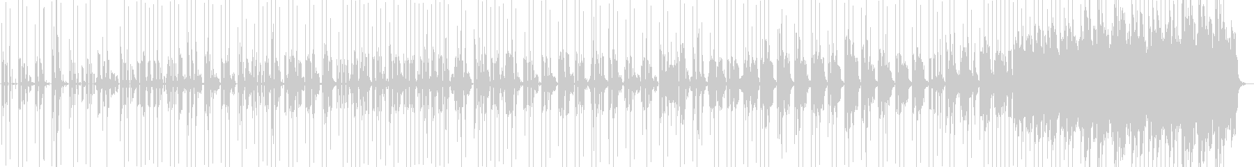 ロボットが会話してるような音楽の未再生の波形