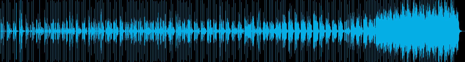 ロボットが会話してるような音楽の再生済みの波形
